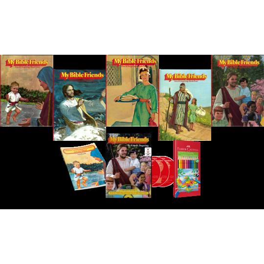 My Bible Friends, Bände 1-5 inkl. Hörbuch, Malheft, Farbstifte